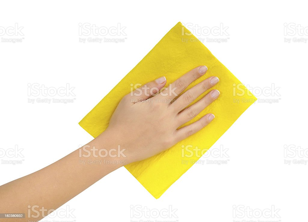 wiping stock photo