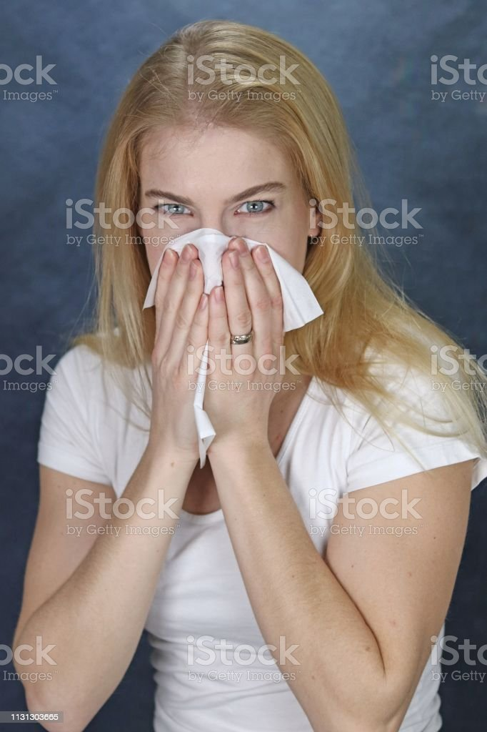 Wiping The Nose stock photo