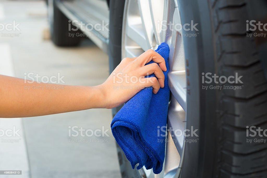 Wiping wheels stock photo