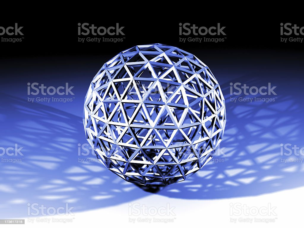 wire blue ball royalty-free stock photo