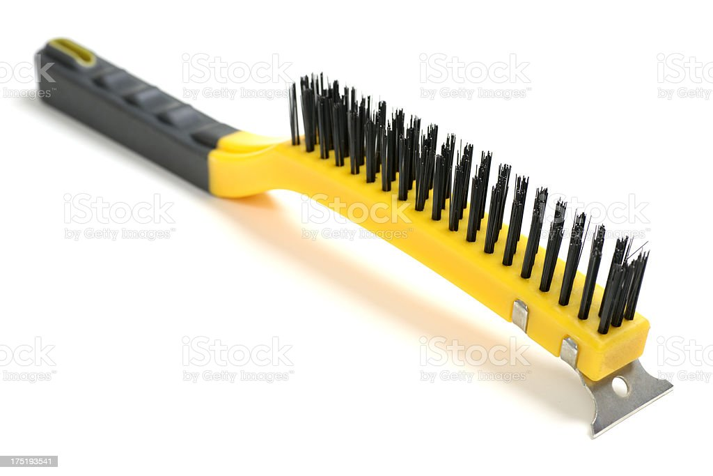 Wire Brush with Scraper royalty-free stock photo