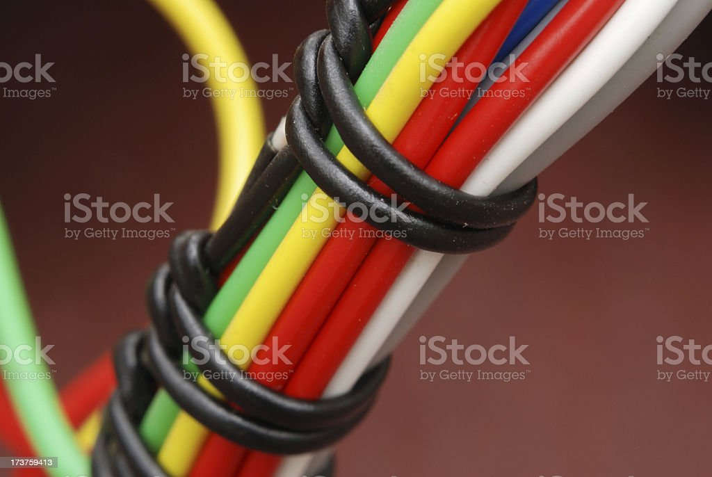 Wire bundle close up royalty-free stock photo