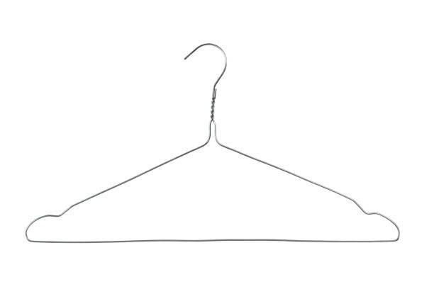 Wire coat hanger stock photo
