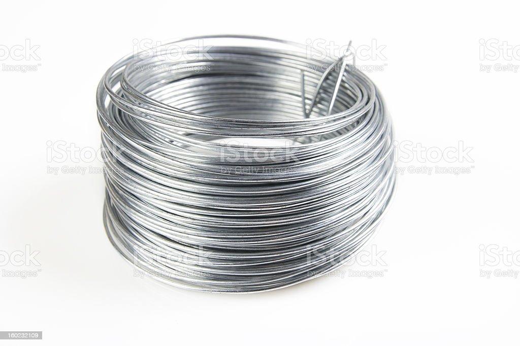 wire coil stock photo