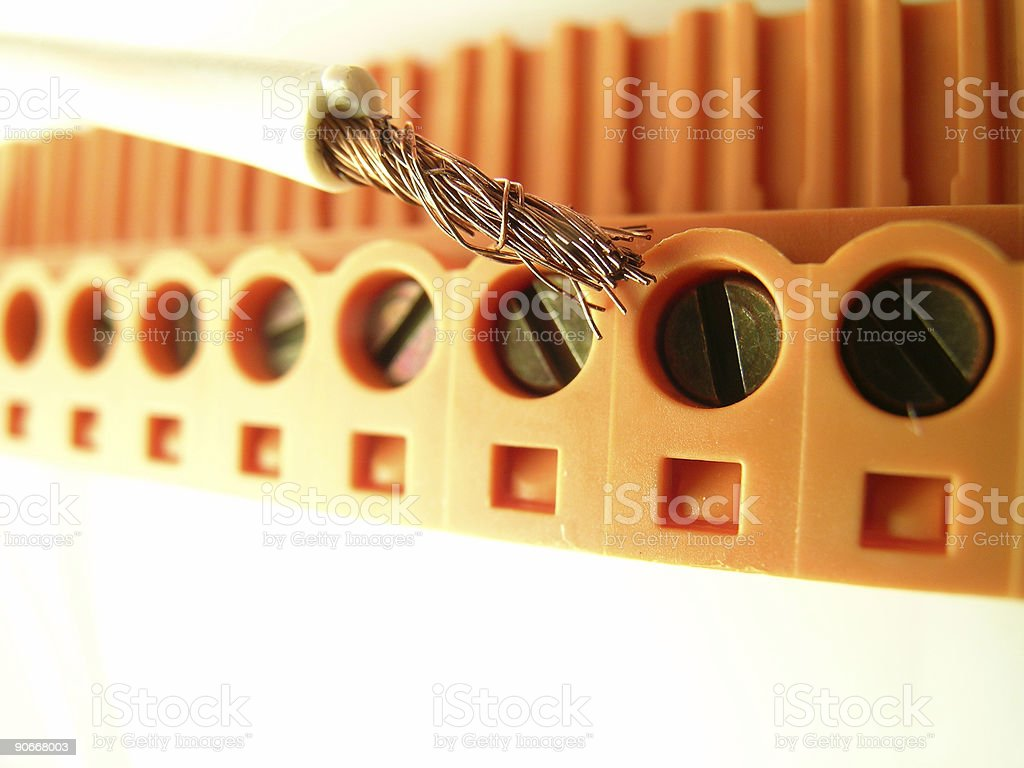Wire Connector royalty-free stock photo