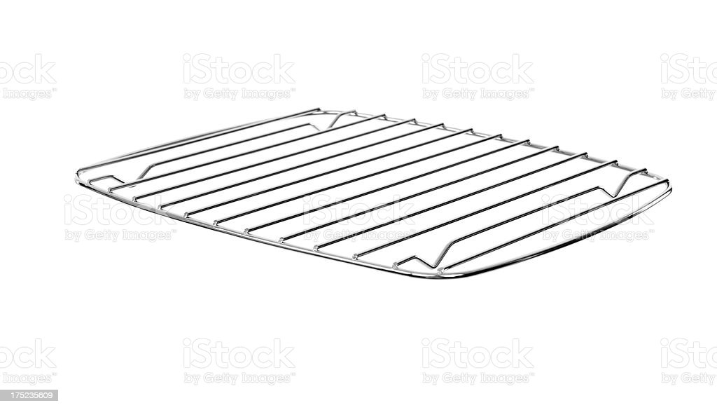 Wire Cooling Rack Isolated royalty-free stock photo