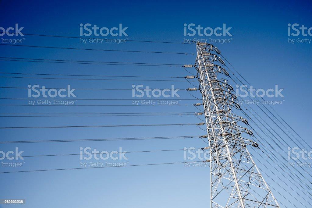 Draht-Elektro Telecom post Lizenzfreies stock-foto