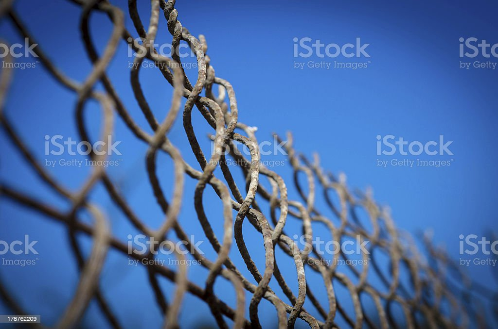 wire fence background royalty-free stock photo