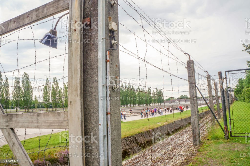 Wire Fence In Dachau Concentration Camp In Germany Stock Photo ...
