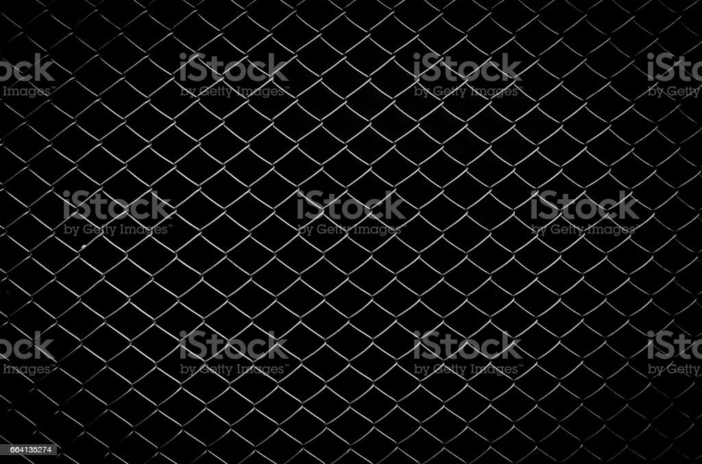 wire fence with isolated black background stock photo