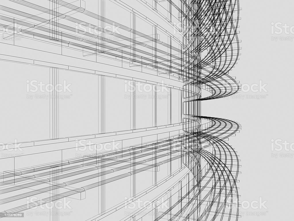 Wire Frame Architectural Background stock photo