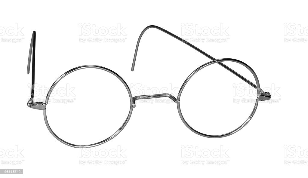 wire glasses frame stock photo