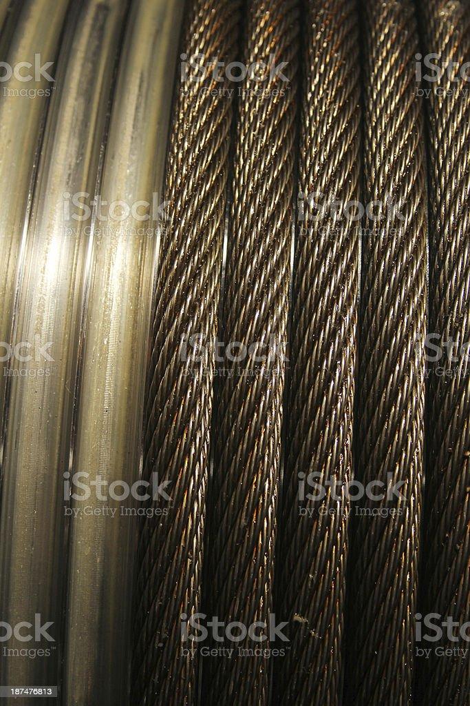 Wire Hawser stock photo