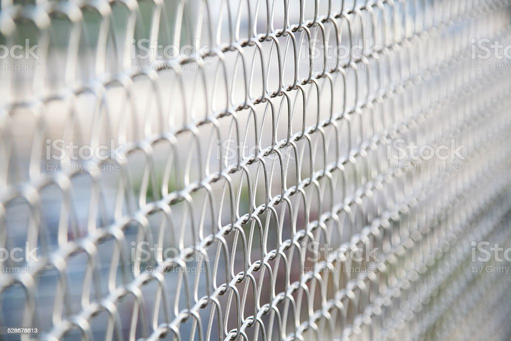 wire mesh fence stock photo
