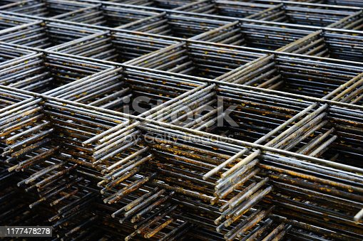 istock Wire mesh in construction site 1177478278
