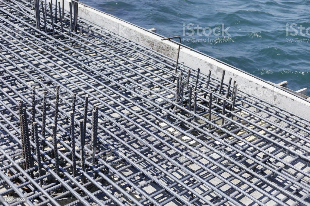 Wire Mesh Steel Rebars For Reinforced Concrete Stock Photo - Download Image  Now