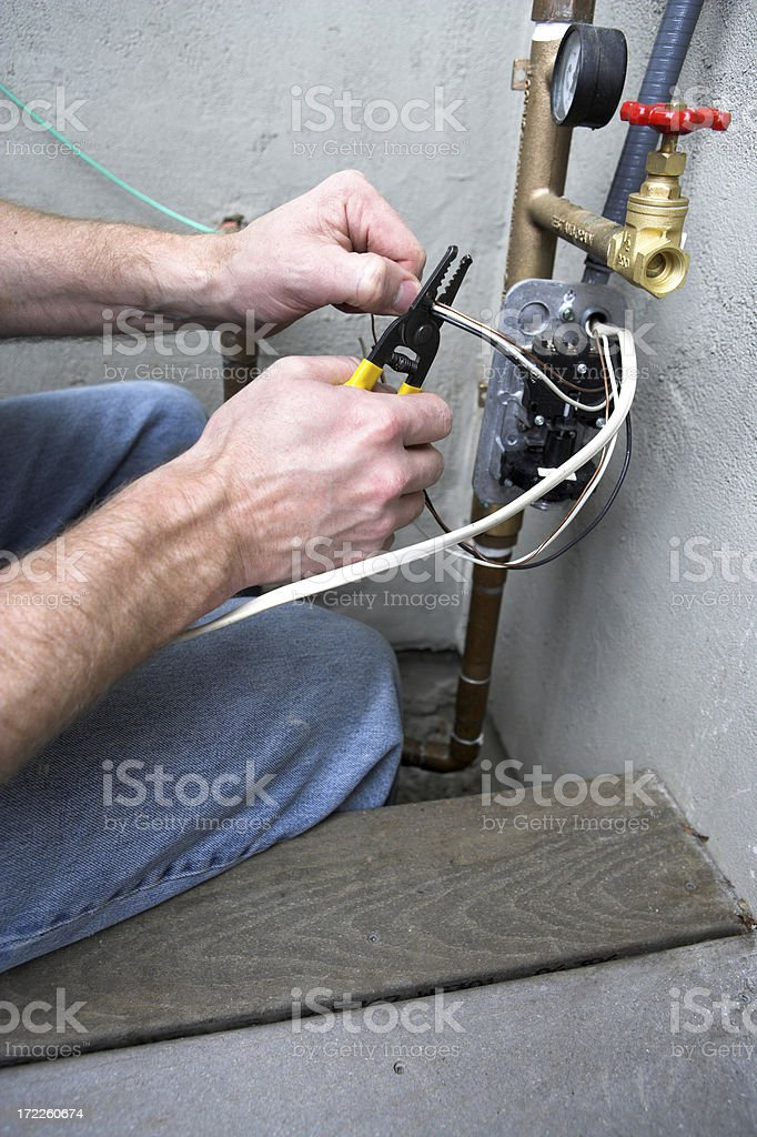 Wire Nut Wiring Electrical Home Repair Valve Wires Electricity royalty-free stock photo