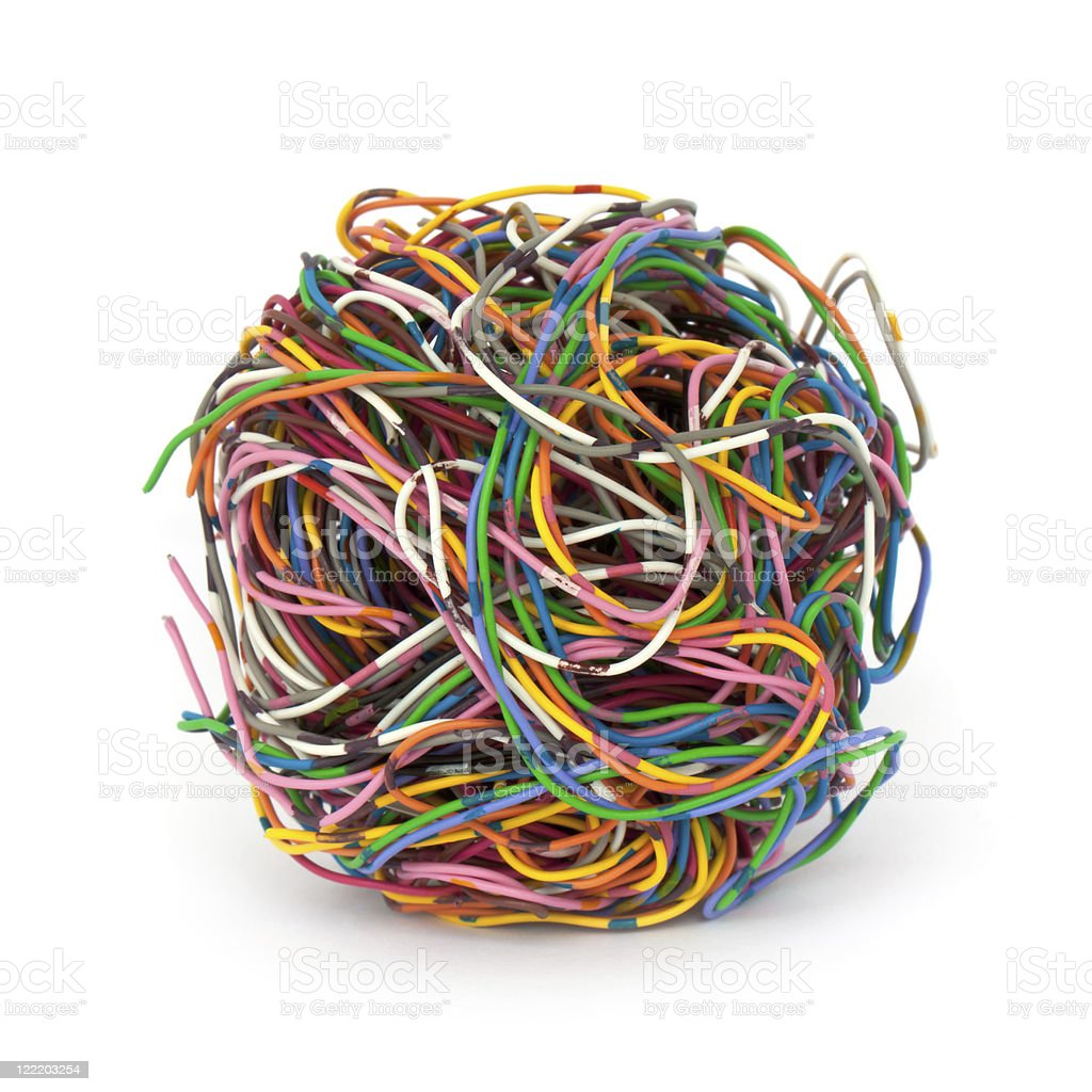 Wire stock photo
