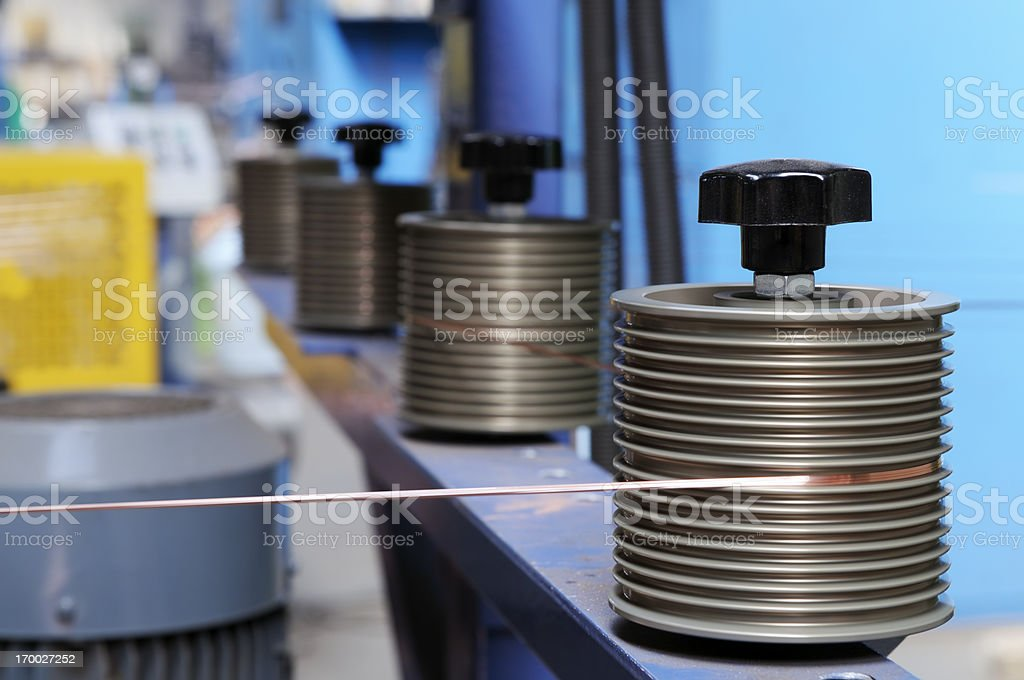 Wire Production royalty-free stock photo