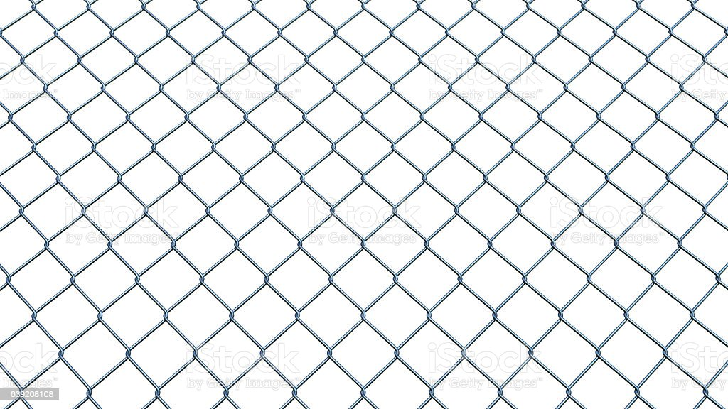 Wire Railing Isolated on White stock photo