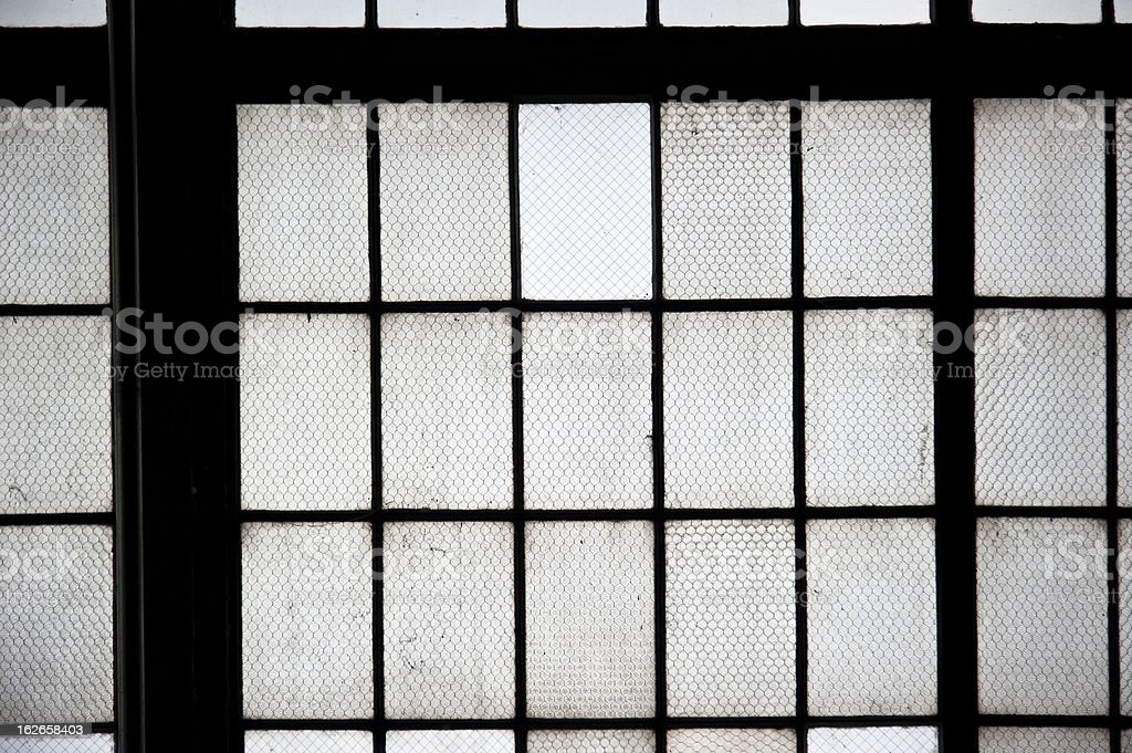 Wire Reinforced Glass Window stock photo | iStock