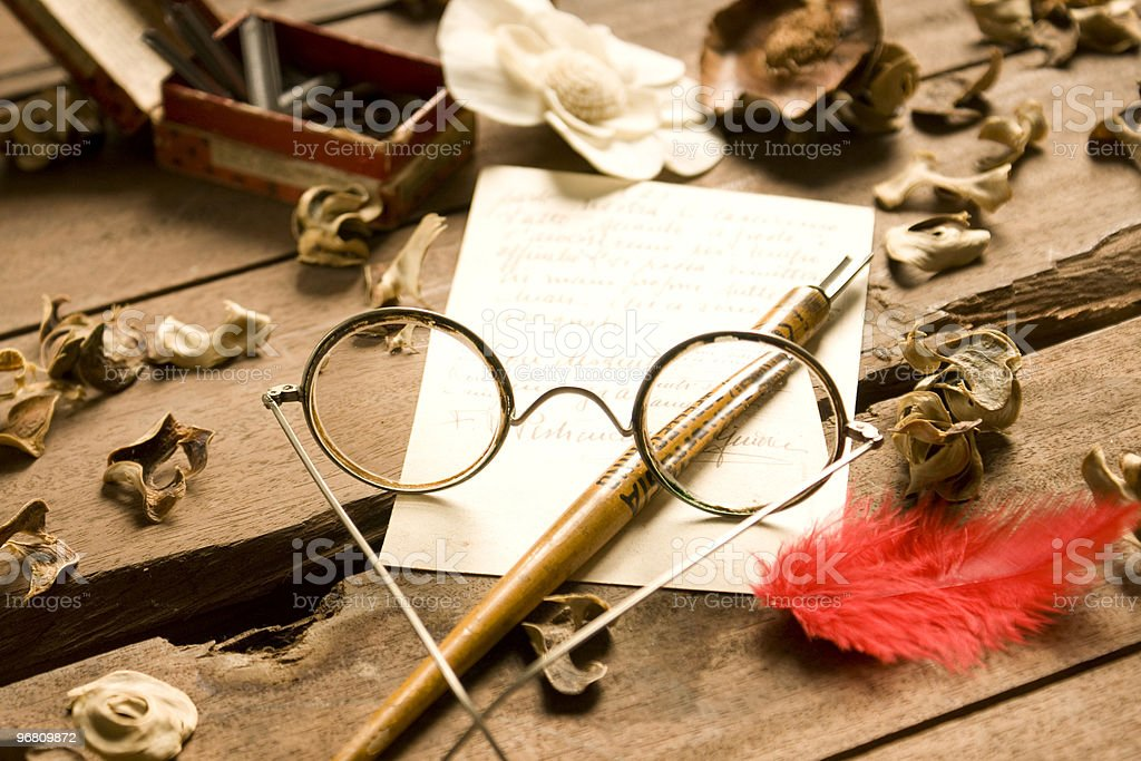 Wire rimmed spectacles royalty-free stock photo