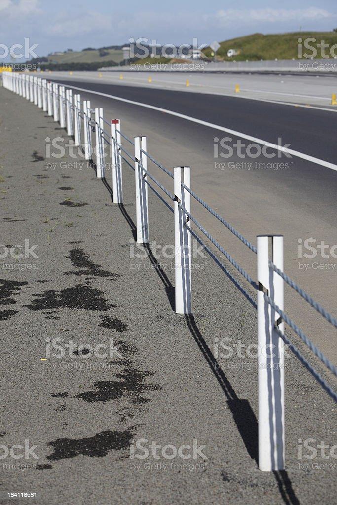 Wire Rope Guard Rail stock photo