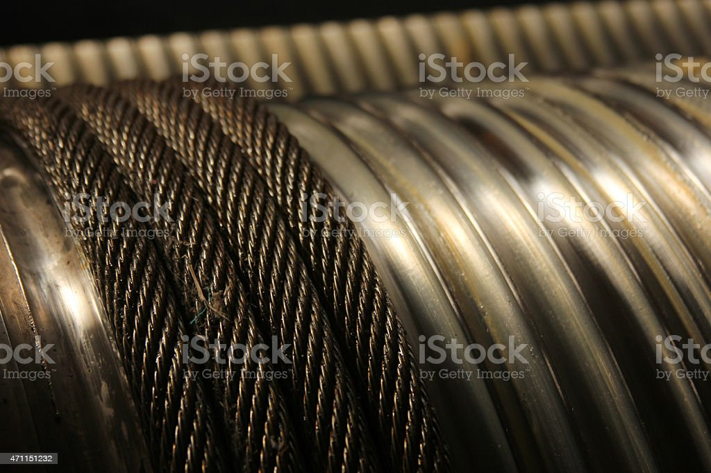 Wire rope stock photo