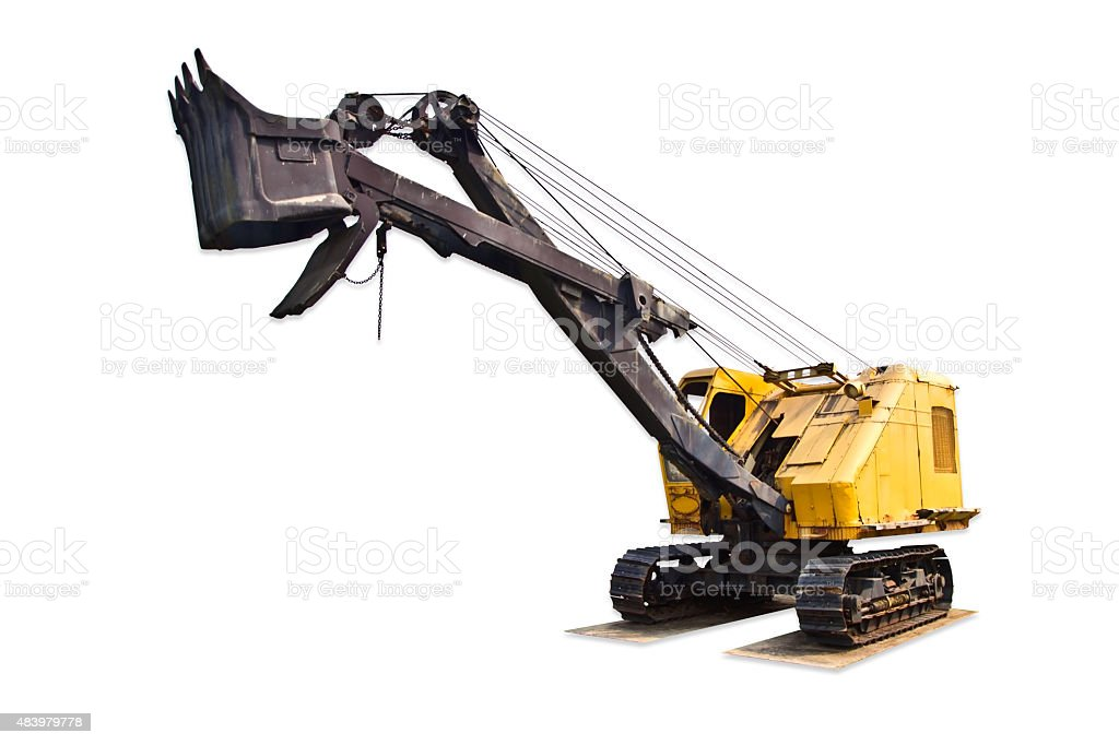 Wire rope shovel stock photo