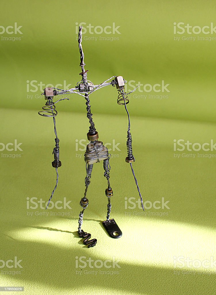 Wire Sculpture and Armature stock photo