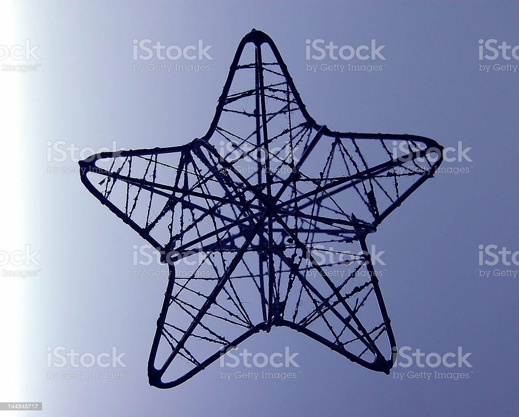 Wire Star stock photo