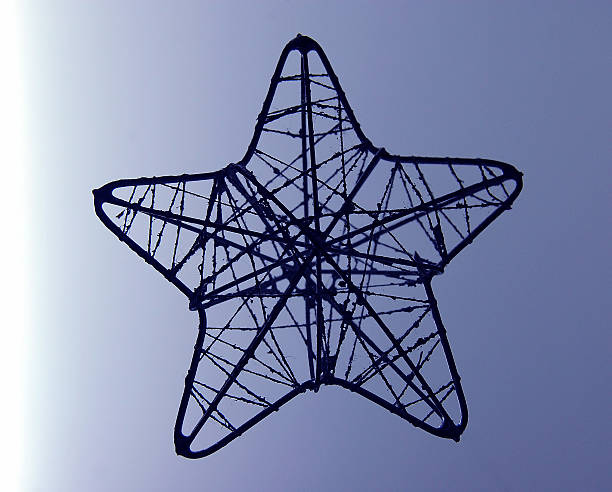 Wire Star stock photo