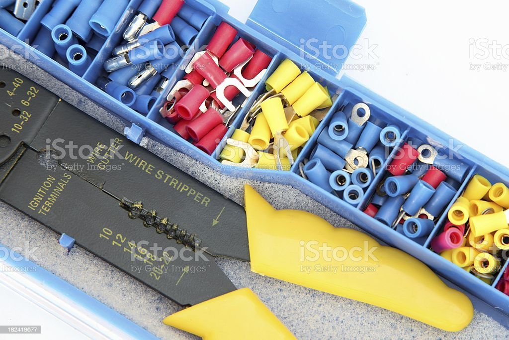 Wire stripper and stakons royalty-free stock photo