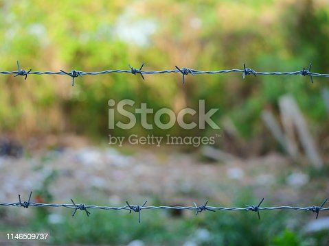 91708255 istock photo wire stuck to fencing 1146509737