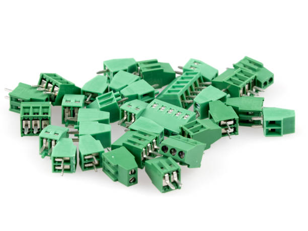 Wire to board connectors stock photo