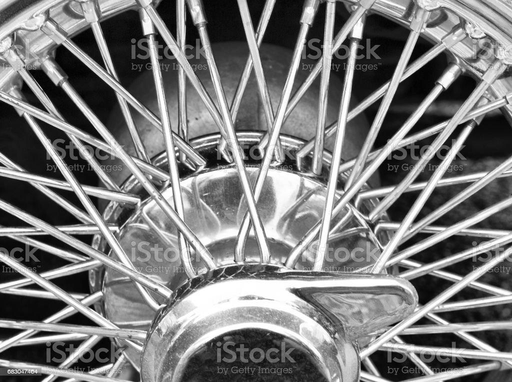 Wire wheel royalty-free stock photo