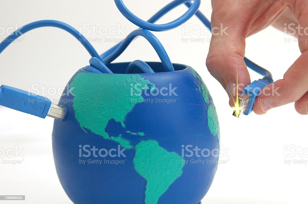 Wired planet royalty-free stock photo
