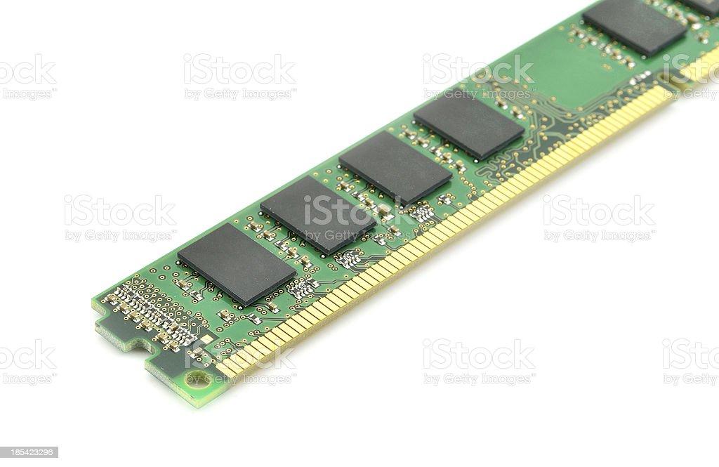 wireDDR RAM memory module isolated on white background stock photo