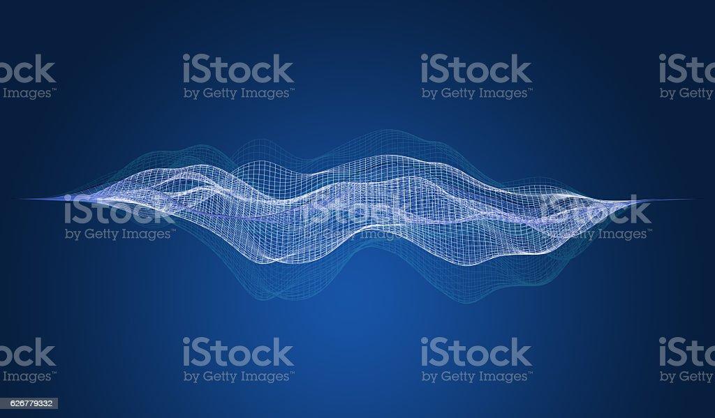 Wireframe A Skeletal Threedimensional Model 3d Illustration Stock