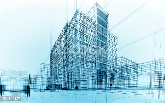 istock wireframe buildings 534644127
