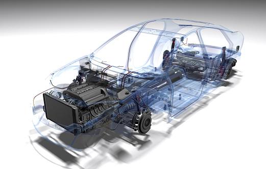 3D Computer Graphic of a Fantasy Car.