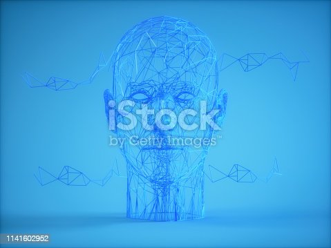 1128821780istockphoto Wireframe human head on blue background 1141602952
