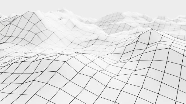 Drahtgitter Mesh Oberfläche 3D-Illustration – Foto