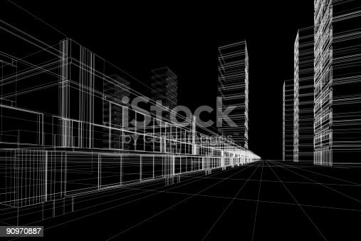 507211099istockphoto wireframe of office buildings 90970887