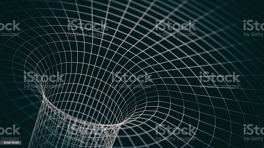 Wireframe tube - a skeletal three-dimensional model of surface stock photo