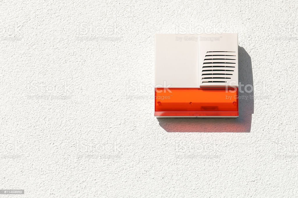Wireless Alarm System On The Outside Of The House Wall Stock