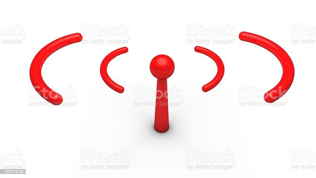 Wireless Antenna Horizontal Red royalty-free stock photo