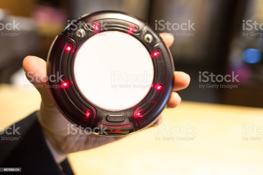 Wireless buzzer to call customers table. stock photo