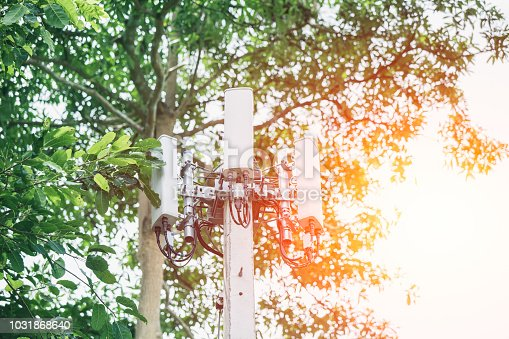 istock 4G wireless Cell Phone communication tower in deep forest mountain for connected people countryside 1031868640