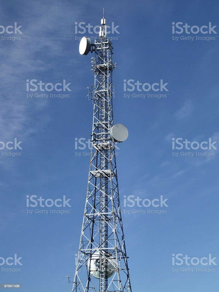 GSM wireless communication aerials royalty-free stock photo